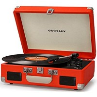 Crosley CR8005C-OR Cruiser Portable Battery Powered Turntable-Orange