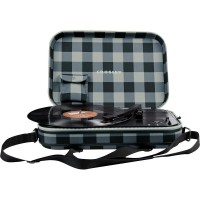 Crosley CR8016A-GC Messenger Portable Turntable Grey and Black Checkerboard