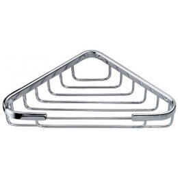 Dawn 6802S Satin Nickel Triangle Soap Basket, 6x6