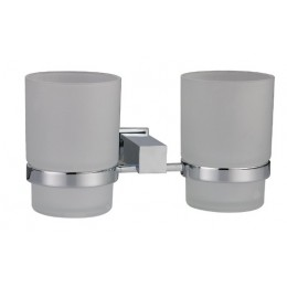 Dawn 8203S Satin Nickel Double Toothbrush Holder