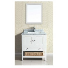 Dawn AACCS-3001 Bohemian 30 in Style Vanity-Single Sink and Marble Top
