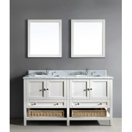 Dawn AACCS-6001 Bohemian 60 in Style Vanity-Single Sink and Marble Top