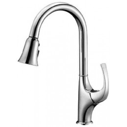Dawn AB043277C Chrome Single Lever Pull Out Kitchen Faucet