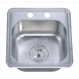 Dawn BST1515 Stainless Steel Top Mount Bar Sink