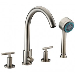 Dawn D162503BN 4-Hole Tub Filler / Personal Handshower / Lever Handles