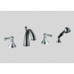 Dawn DS122119C 4-Hole Tub Filler / Personal Handshower / Lever Handles