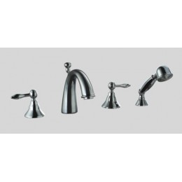 Dawn DS132119C 4-Hole Tub Filler, Personal Handshower, Lever Handles