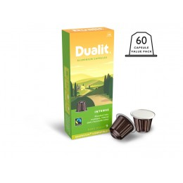 Dualit  and Nespresso Compatible 15885 Intense Aluminum Capsules 100 Pack