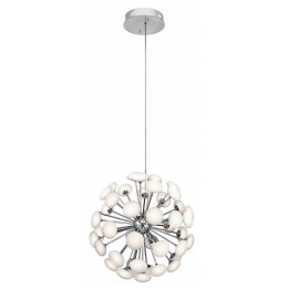 Elan 83279 Kotton Collection Satin Nickel LED Foyer Chandelier