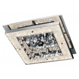 Elan 83430 Crushed Ice Collection Chrome LED Square Ceiling Light