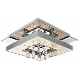 Elan 83431 Crushed Ice Collection LED Square Ceiling Light