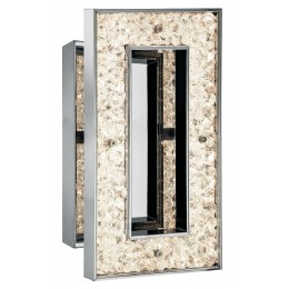 Elan 83433 Crushed Ice Collection Chrome LED Rectangular Wall Sconce