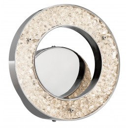 Elan 83434 Crushed Ice Collection Chrome LED Circular Wall Sconce