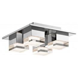 Elan 83602 Gorve Collection Chrome Flushmount Ceiling Light