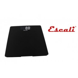 Escali B200B Glass Platform Bathroom Scale 440 LB Black