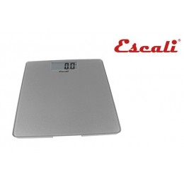 Escali B200S Glass Platform Bathroom Scale 440 LB Silver