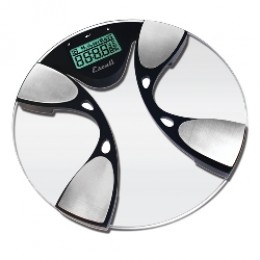 Escali BFBW200 Body Fat Body Water Digital Glass Bathroom Scale 440 LB