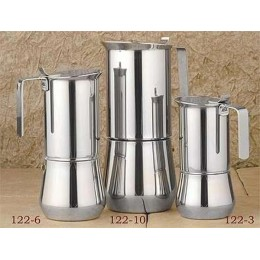 European Gift 122-10 Stainless Steel Stove Top Espresso Maker 10-Cup