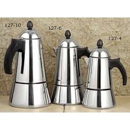 European Gift 127-4 Stainless Steel Konica Stovetop Espresso Maker