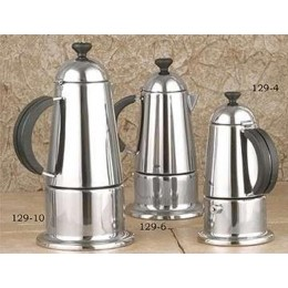 European Gift 129-6 Stainless Steel Stovetop Espresso Maker 6 Cup