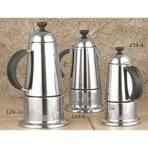 Stovetop Coffee Maker Gift : European Gift 129-6 Stainless Steel Stovetop Espresso Maker 6 Cup
