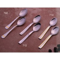 European Gift 714 Stainless Steel Espresso Flat Bottom Spoons Gold