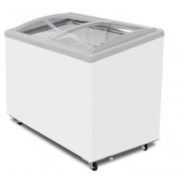 Excellence Industries EAC-39HC Curved Lid Display Freezer - 4 Basket