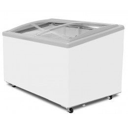 Excellence Industries EAC-59HC Curved Lid Display Freezer - 6 Basket
