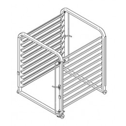Fagor EB-102 Mobile Oven Rack 102-Trays