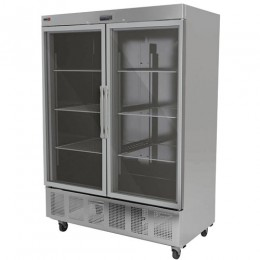 Fagor QVR-2G 2 Section Glass Full Door Reach-in Refrigerator
