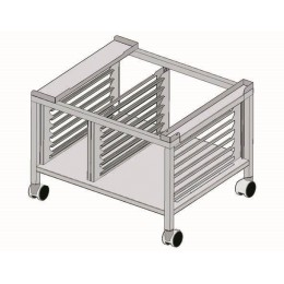 Fagor SH-102-RB Support Stand With Pan Slides And Castors