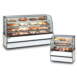 Federal CGD7742 Curved Glass Non-Refrigerated Bakery Case Two Tier 77