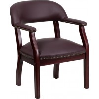 Flash Furniture B-Z105-LF19-LEA-GG Burgundy Top Grain Leather Conference Chair