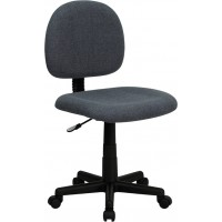 Flash Furniture BT-660-GY-GG Low Back Gray Fabric Swivel Task Chair