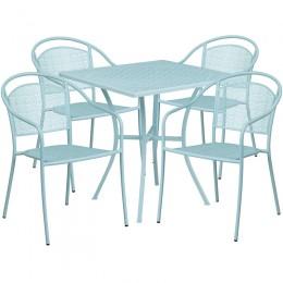 Flash Furniture CO-28SQ-03CHR4-SKY-GG 28