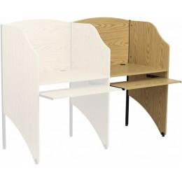 Flash Furniture MT-M6202-OAK-ADD-GG Add-On Study Carrel in Oak Finish
