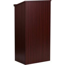 Flash Furniture MT-M8830-LECT-MAH-GG Stand-Up Lectern in Mahogany
