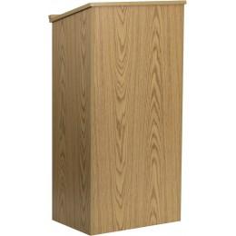 Flash Furniture MT-M8830-LECT-OAK-GG Stand-Up Lectern in Oak