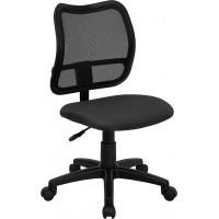 Flash Furniture WL-A277-GY-GG Mid-Back Gray Mesh Swivel Task Chair