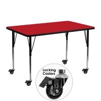 Flash Furniture XU-A2448-REC-RED-H-A-CAS-GG Mobile 24