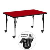 Flash Furniture XU-A3048-REC-RED-T-P-CAS-GG Mobile 30