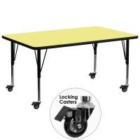 Flash Furniture XU-A3072-REC-YEL-T-P-CAS-GG Mobile 30
