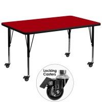 Flash Furniture XU-A3672-REC-RED-T-P-CAS-GG Mobile 36