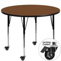 Flash Furniture XU-A42-RND-OAK-H-A-CAS-GG Mobile 42