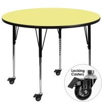 Flash Furniture XU-A42-RND-YEL-T-A-CAS-GG Mobile 42