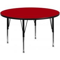 Flash Furniture XU-A48-RND-RED-T-P-GG 48