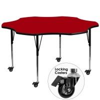 Flash Furniture XU-A60-FLR-RED-T-A-CAS-GG Mobile 60
