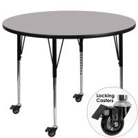 Flash Furniture XU-A60-RND-GY-T-A-CAS-GG Mobile 60