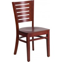 Flash Furniture XU-DG-W0108-MAH-MAH-GG Darby Series Slat Back Mahogany Wood Restaurant Chair