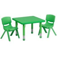 Flash Furniture YU-YCX-0023-2-SQR-TBL-GREEN-R-GG 24